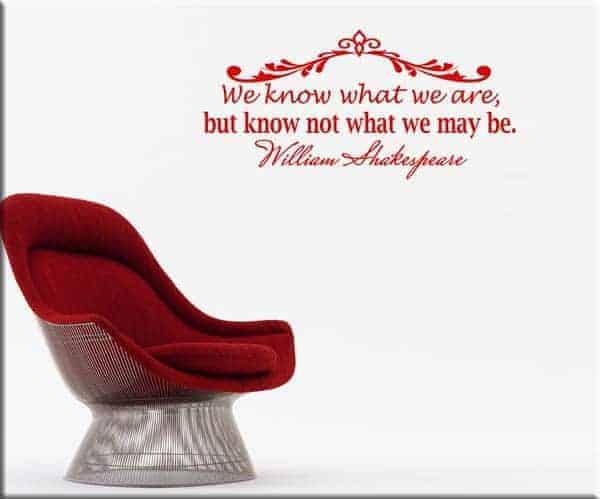 adesivo da parete citazione frase William Shakespeare