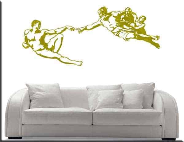 adesivo da parete creazione di Adamo di Michelangelo