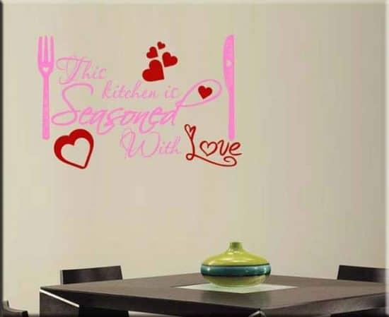 adesivo da parete cucina KITCHEN LOVE