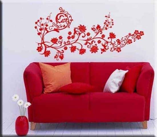 adesivo da parete fiori