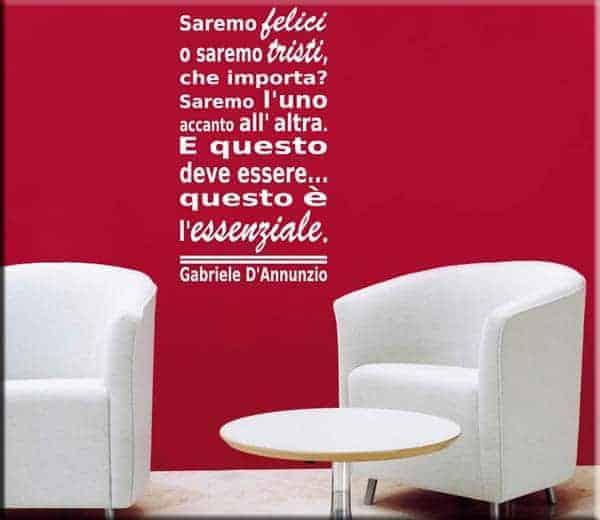 adesivo da parete frase Gabriele D'Annunzio