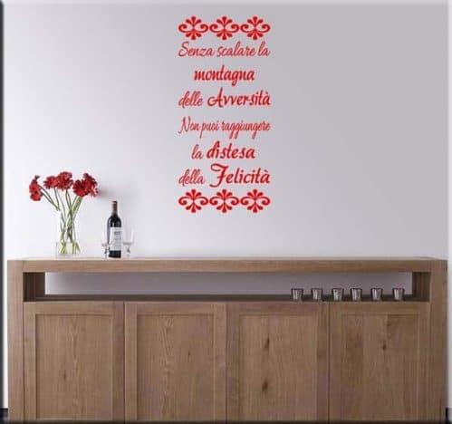 adesivo da parete frase proverbio tibetano
