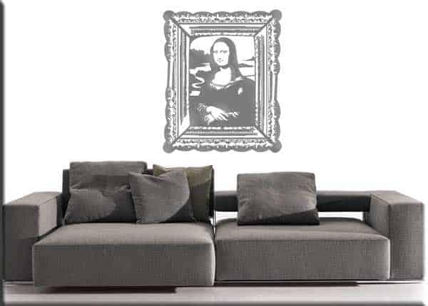 adesivo da parete quadro Monna Lisa
