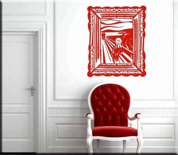 adesivo da parete quadro l'Urlo di Munch