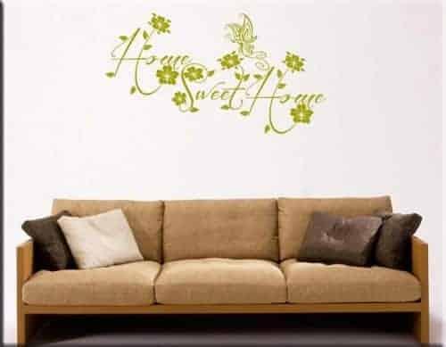 adesivo da parete sweet home