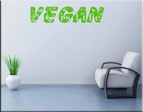 adesivo da parete vegan