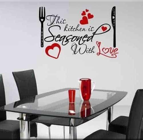 adesivo murale KITCHEN LOVE
