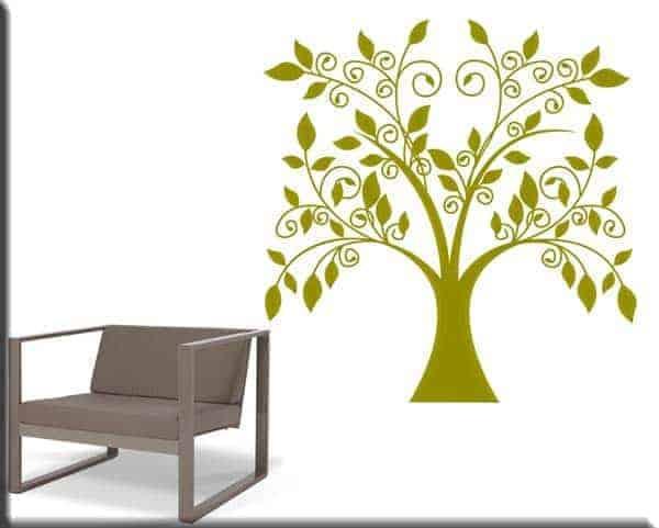 Adesivo murale albero stilizzato - Albero su parete ...