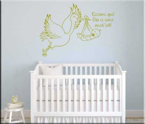 adesivo murale bebè personalizzato