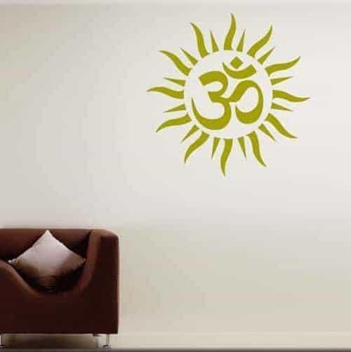 adesivo murale chakra om