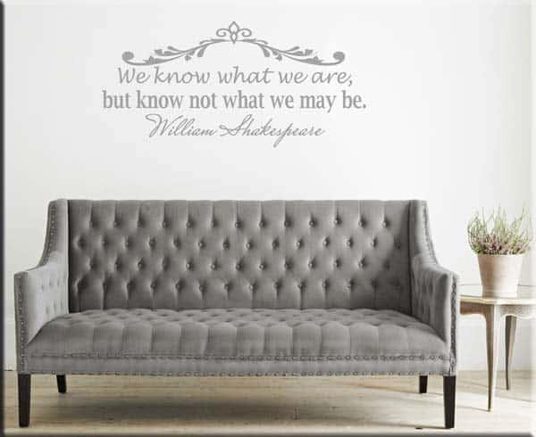 adesivo murale citazione frase William Shakespeare