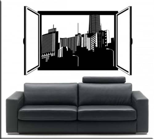 adesivo murale finestra aperta