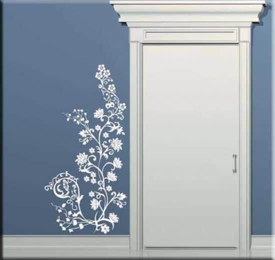 adesivo murale fiori