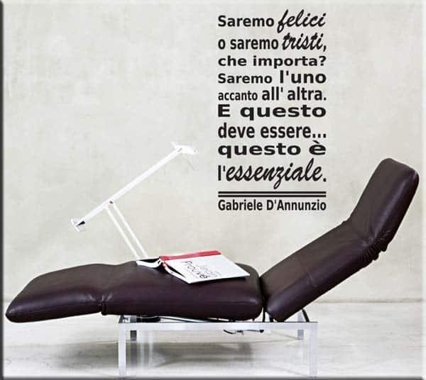 adesivo murale frase Gabriele D'Annunzio