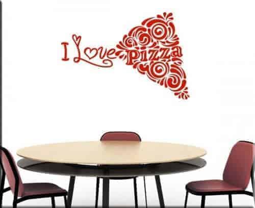 adesivo murale love pizza