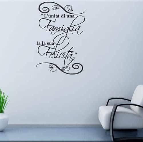 adesivo murale proverbio cinese famiglia