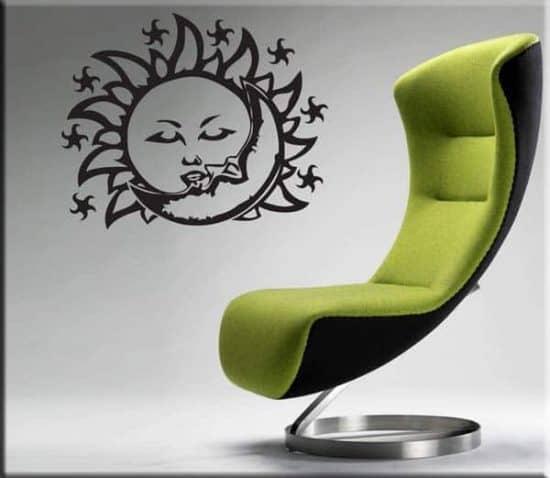 adesivo murale sole e luna
