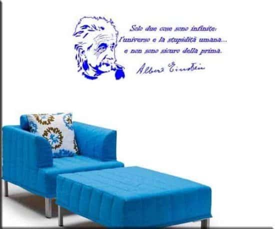 citazione Albert Einstein decorazione adesiva