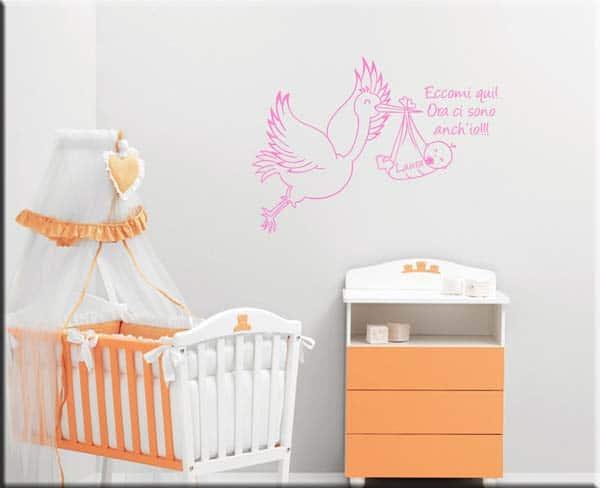 decorazione adesiva bebè personalizzato