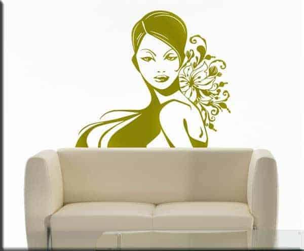 decorazione adesiva bellezza donna