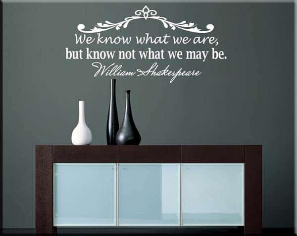decorazione adesiva citazione frase William Shakespeare