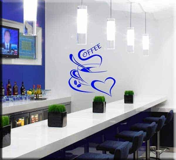 decorazione adesiva coffee bar