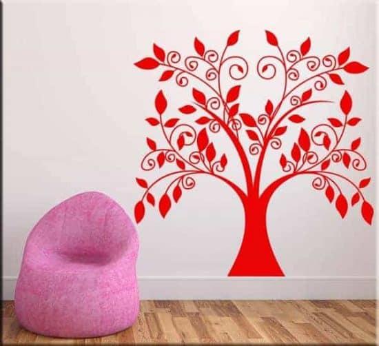 decorazione adesiva da muro albero stilizzato