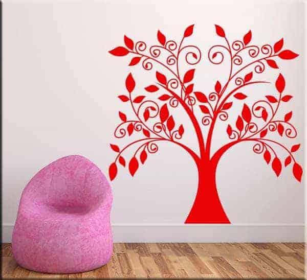 Adesivo murale albero stilizzato for Decorazioni muro