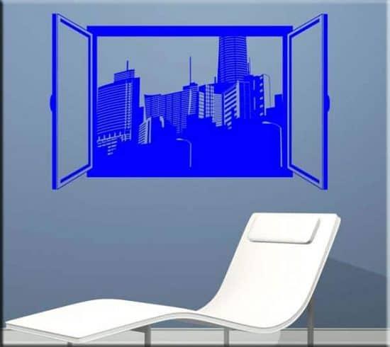 decorazione adesiva da muro finestra aperta