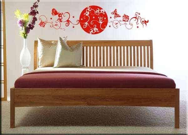 decorazione adesiva da muro testata letto