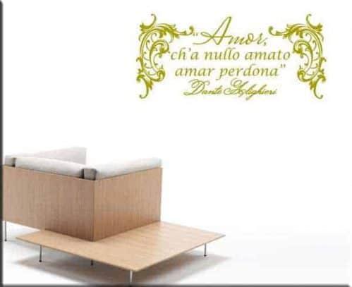 decorazione adesiva frase Dante Alighieri