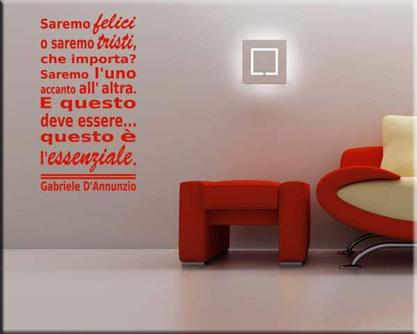 decorazione adesiva frase Gabriele D'Annunzio