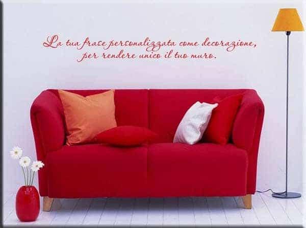 decorazione adesiva frase personalizzata