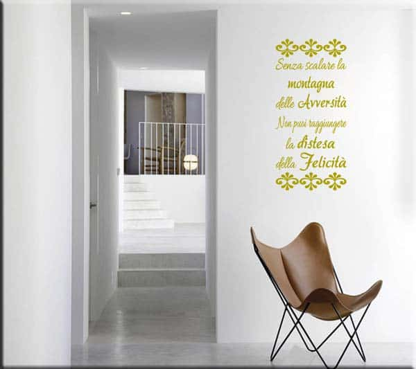 decorazione adesiva frase proverbio tibetano