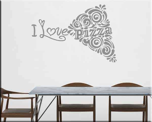 decorazione adesiva murale love pizza