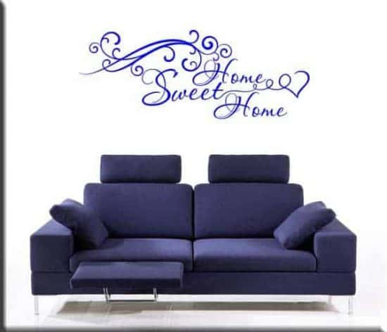 decorazione adesiva murale sweet home