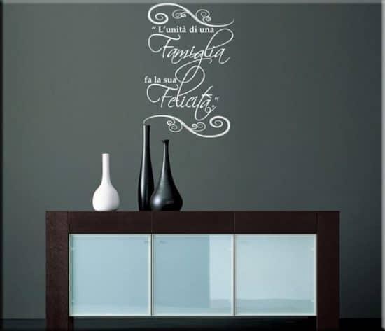 decorazione adesiva proverbio cinese famiglia