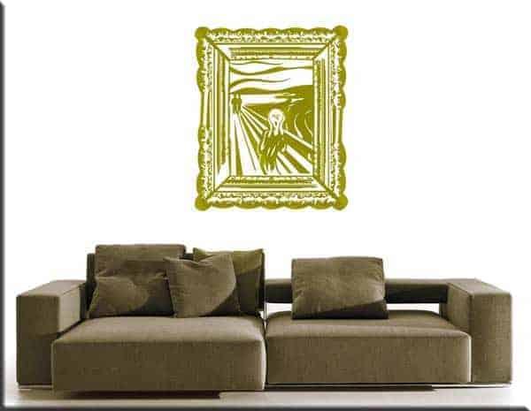 decorazione adesiva quadro l'Urlo di Munch