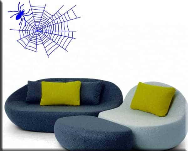 decorazione adesiva ragno