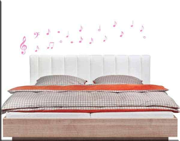 decorazioni adesive 19 note musicali