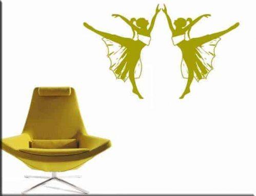 decorazioni adesive ballerine danza