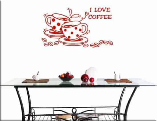 decorazioni adesive coffee bar