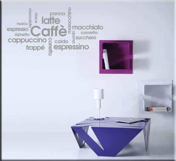 decorazioni adesive colazione bar
