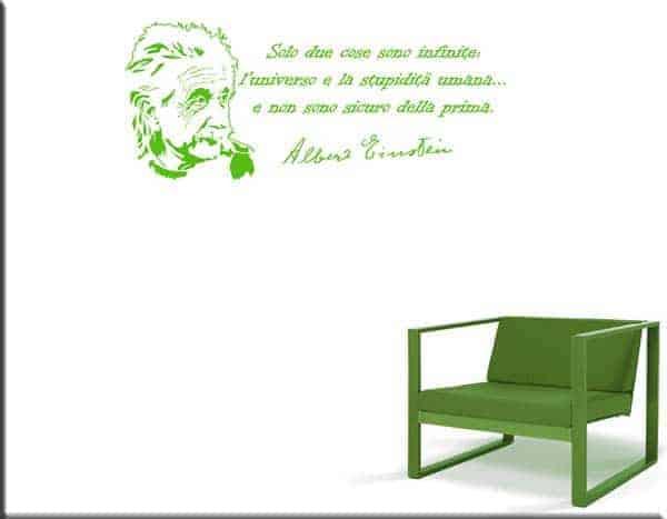 frase Albert Einstein adesivo da parete