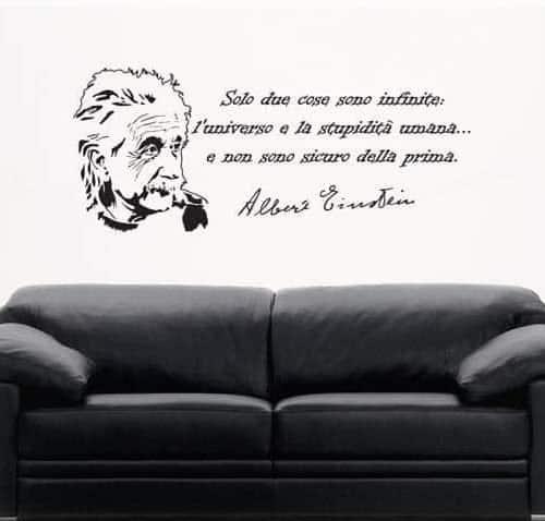 frase Albert Einstein adesivo murale
