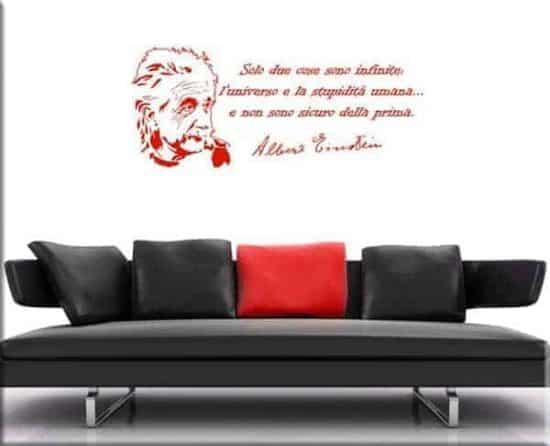 frase Albert Einstein wall sticker