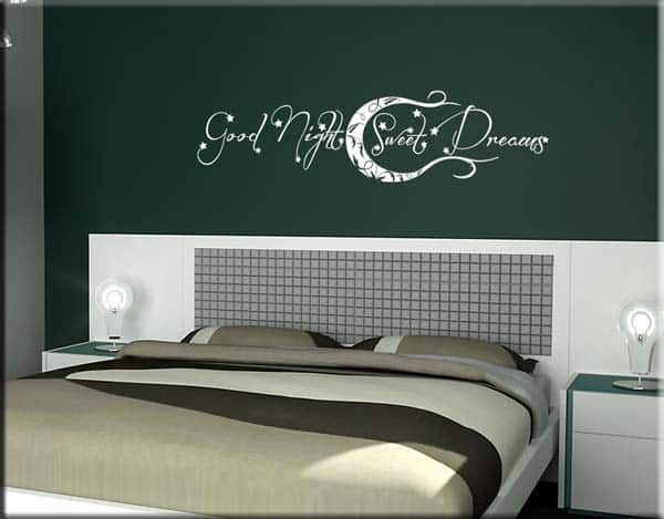 good night wall stickers sweet dreams