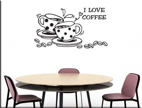 love coffee adesivo murale bar