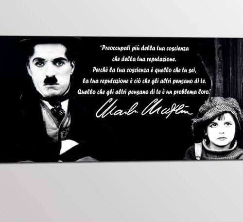 quadro citazione Charlie Chaplin