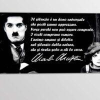 Quadro Frase Charlie Chaplin Quadri Cinema Arredimurali